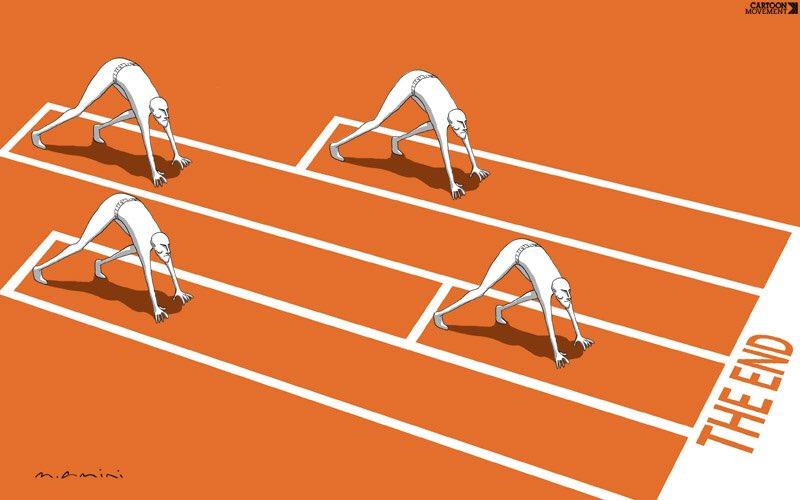 Nierówny wyścig za granicą