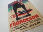 Portada del libreto del DVD de Francesca, de Luciano Onetti