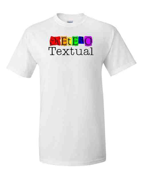 heterotextual t-shirt (white)