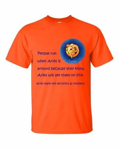 Aries T-Shirt (orange)