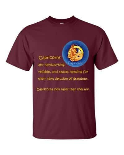 Capricorn T-Shirt (maroon)