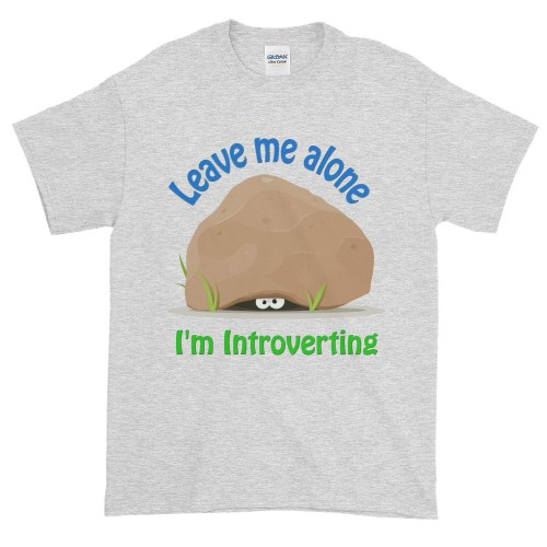 Leave Me Alone I'm Introverting T-Shirt (ash)