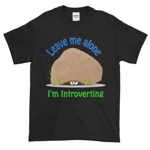 Leave Me Alone I'm Introverting T-Shirt (black)
