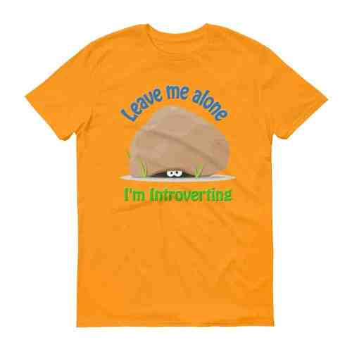 Leave Me Alone I'm Introverting T-Shirt (tangerine)