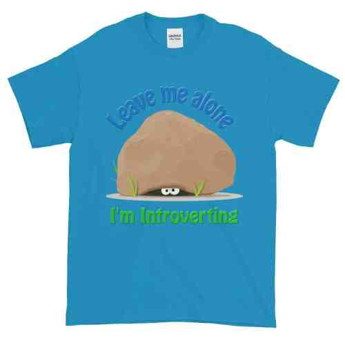 Leave Me Alone I'm Introverting T-Shirt (sapphire)