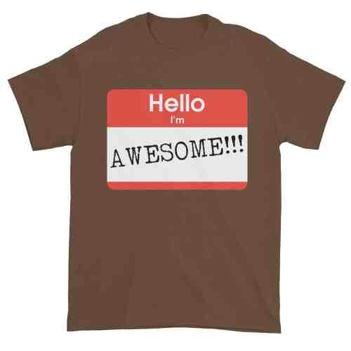 Hello, I'm Awesome T-Shirt (chestnut)
