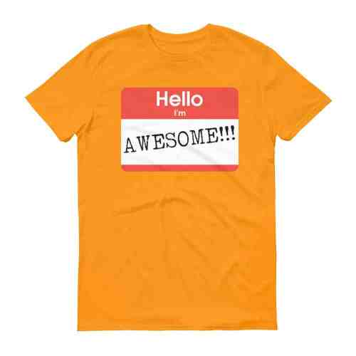 Hello, I'm Awesome T-Shirt (tangerine)
