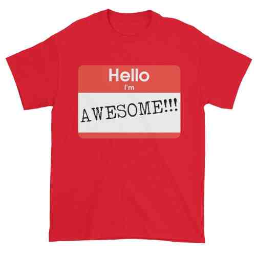 Hello, I'm Awesome T-Shirt (red)