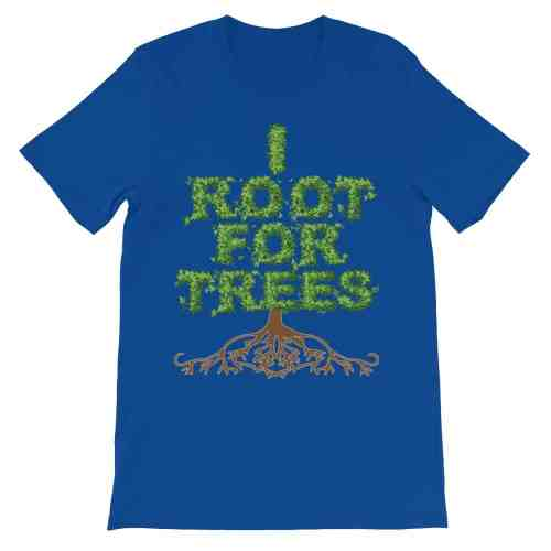 I Root for Trees T-Shirt (royal)