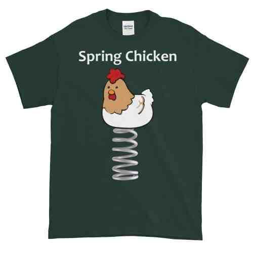 Spring Chicken T-Shirt (forest)