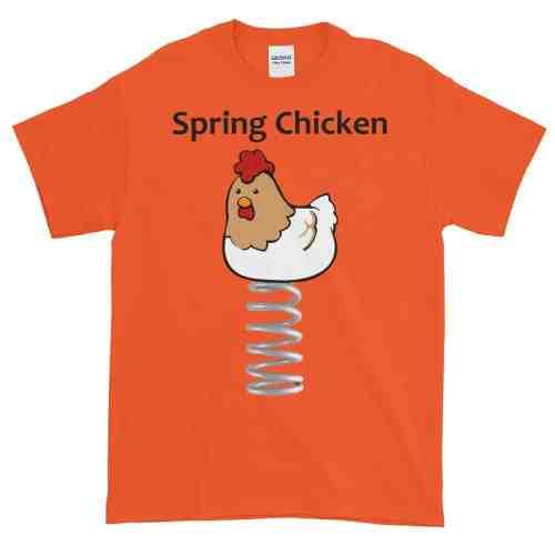 Spring Chicken T-Shirt (orange)