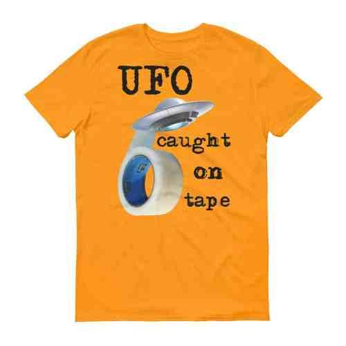 UFO Caught on Tape T-Shirt (tangerine)