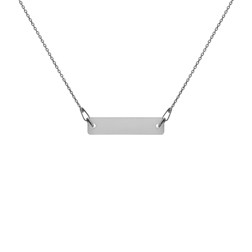 Black rhodium sterling silver bar chain necklace