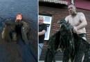 Przez godzinę czołgał się przez bagno, żeby uratować młodego bielika