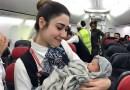 Urodziła 13 km nad Ziemią. Pomogła załoga samolotu