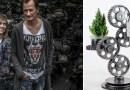 Para z Warszawy sprzedaje modnym knajpom lampy zrobione z samochodów ze złomu