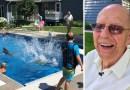 94-latek wybudował na swojej posesji darmowy basen dla sąsiadów