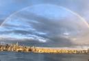 Natura oddaje hołd pracownikom służby zdrowia w Nowym Jorku. Na niebie pojawiła się idealna tęcza