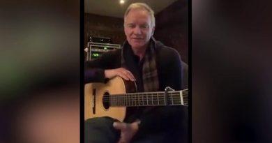 Ze swojego domu w Anglii Sting wspiera swoich włoskich przyjaciół {VIDEO]