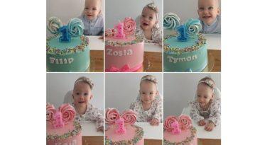 """Pierwsze urodziny sześcioraczków z Tylmanowej. Sześć tortów, sześć świeczek i sześć razy """"sto lat"""""""