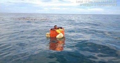 Odnaleziono zaginionego rybaka, dryfował przez kilka dni w plastikowym kontenerze