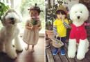 Japońska babcia dokumentuje urocze zabawy rocznej dziewczynki i jej ogromnego pudla