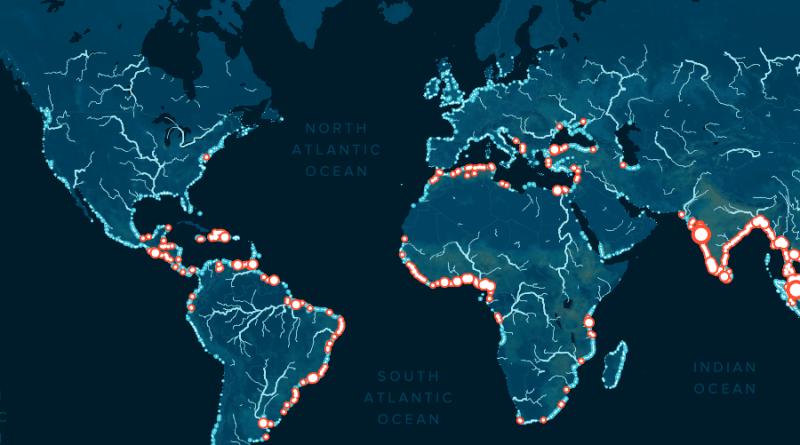 mapa zanieczyszczenia