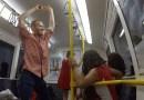 Na poprawę humoru taniec w pociągu w Perth