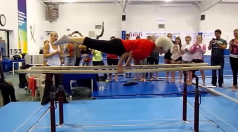 Wiek to tylko stan umysłu, oto 89-letnia gimnastyczka