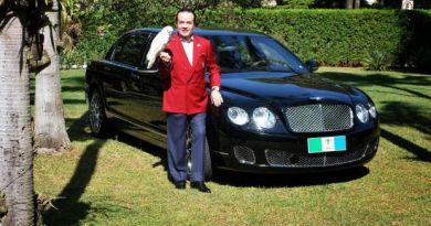 Brazylijski milioner postanowił zakopać w ogrodzie swojego Bentleya