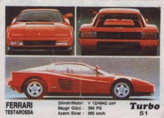 """Коллекция вкладышей """"Turbo"""" (Турбо). Номера: 51-120"""