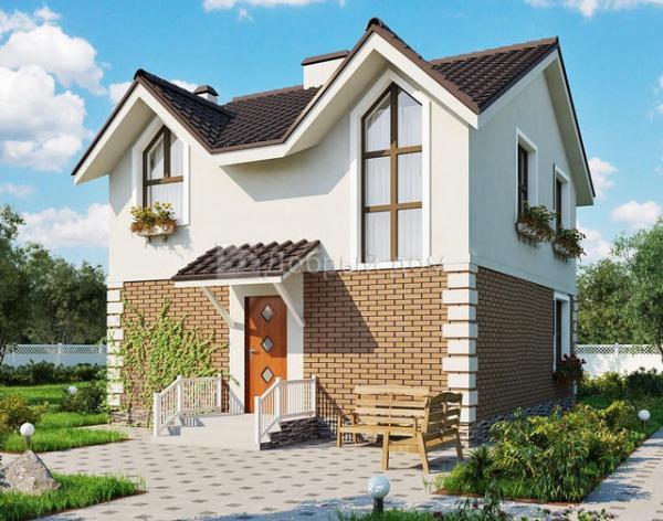 Проект двухэтажного дома AS-2040 из газобетона до 100 м2