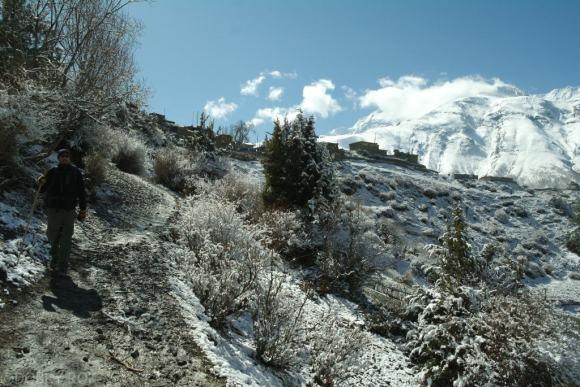 Himalaje w sniegu