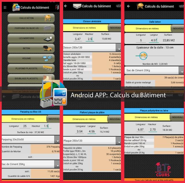 Android application sur BTP-Cours.com