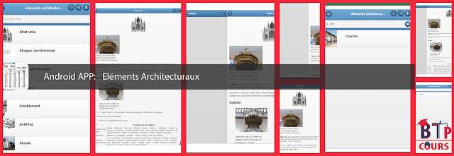 Android APP BTP et Architecture sur www.BTP-Cours.com