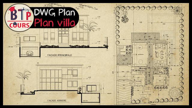 plan DWG villa