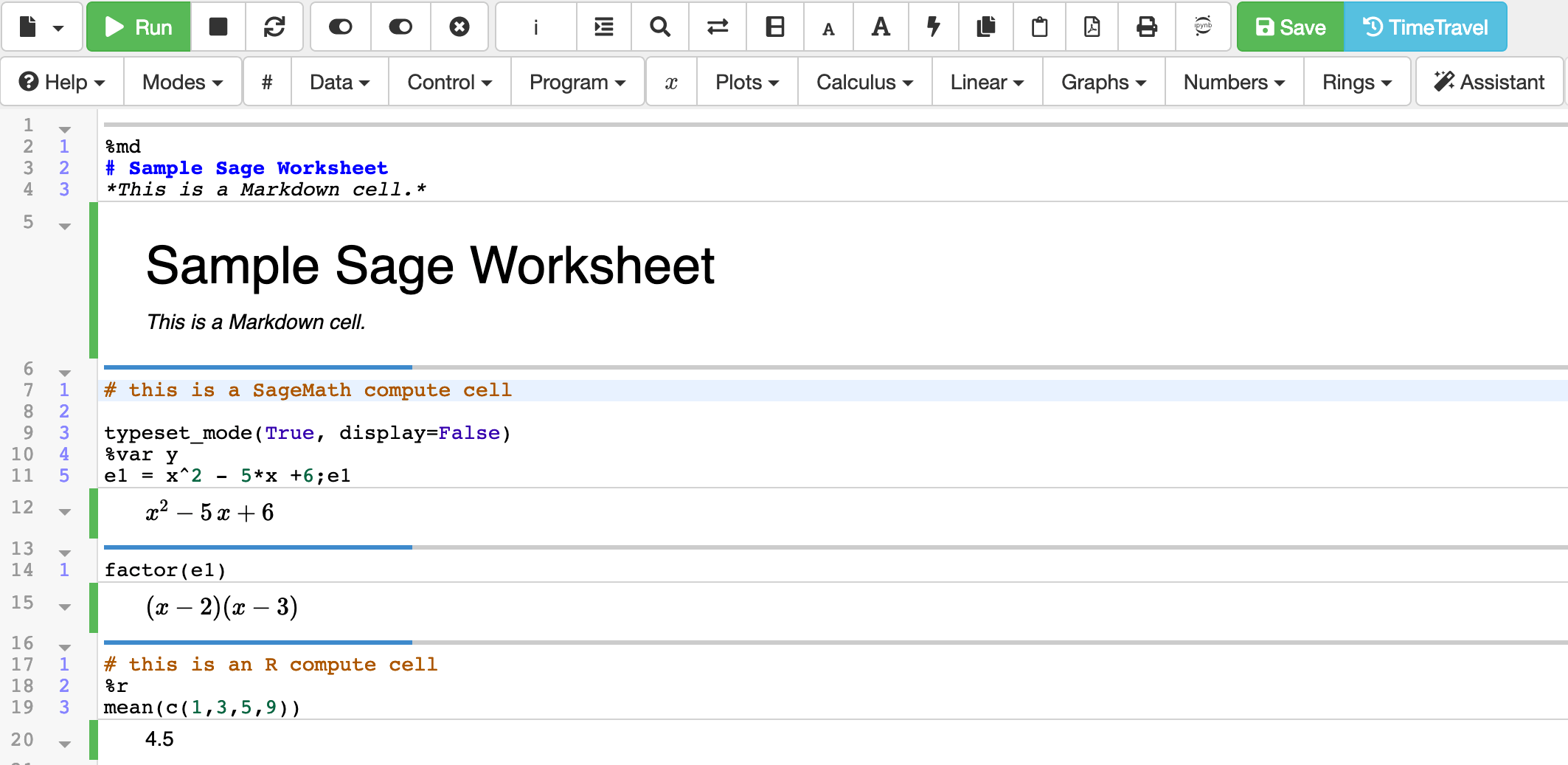 Sage Worksheets