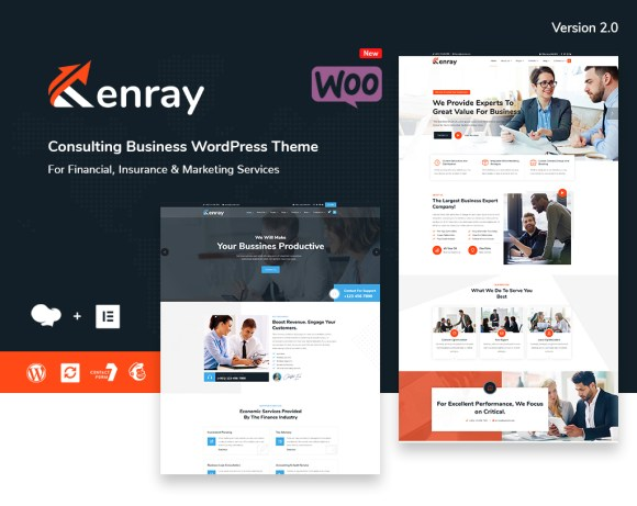 Kenray – Best Consulting Business WordPress Theme