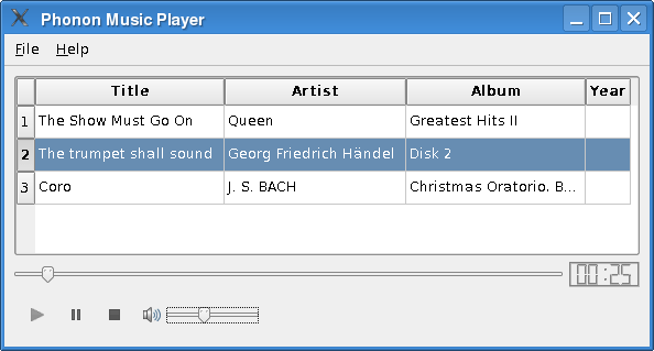 Music Player Example | Qt 4.8