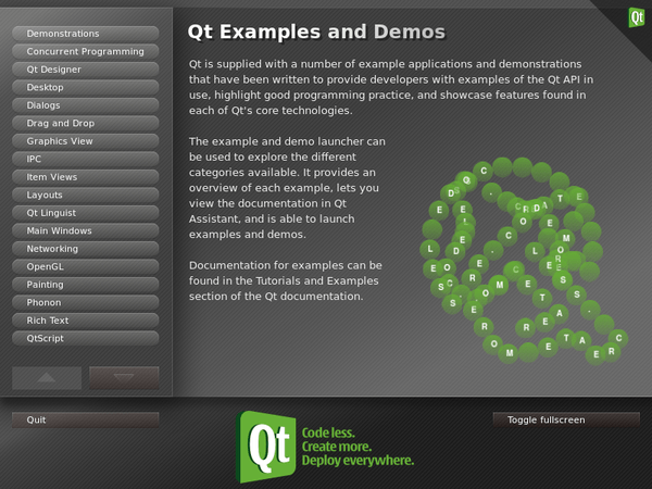 Examples and Demos Launcher | Qt 4.8
