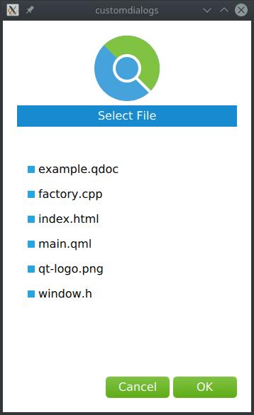 WebEngine Qt Quick Custom Dialogs Example | Qt WebEngine 5.12