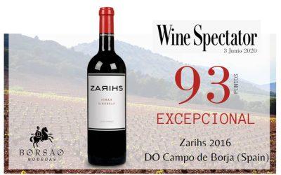 Zarihs excepcional y destacado en Wine Spectator