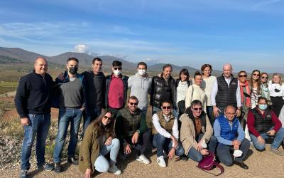 Visita de los alumnos de curso de Sumilleres que organizó la Asociación de sumilleres de Aragón