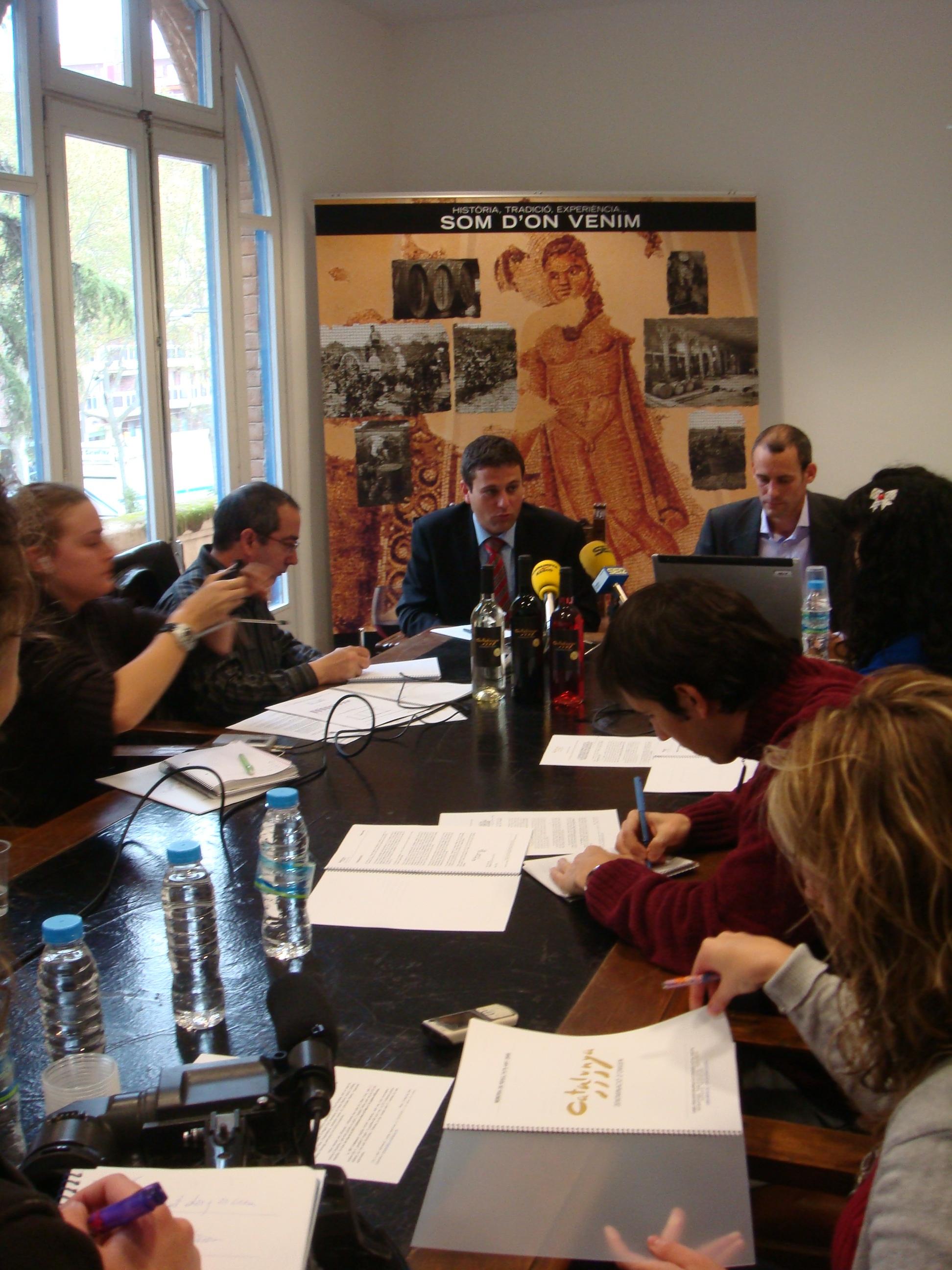 Roda de premsa a la seu de la DO Catalunya