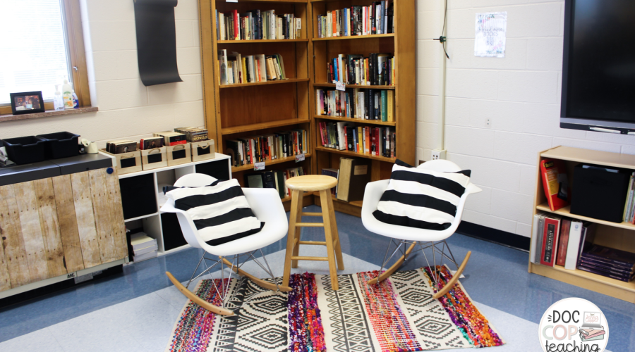 Check out this post for high school ELA classroom decor and organization inspiration with a focus on reading, writing, and discussion.