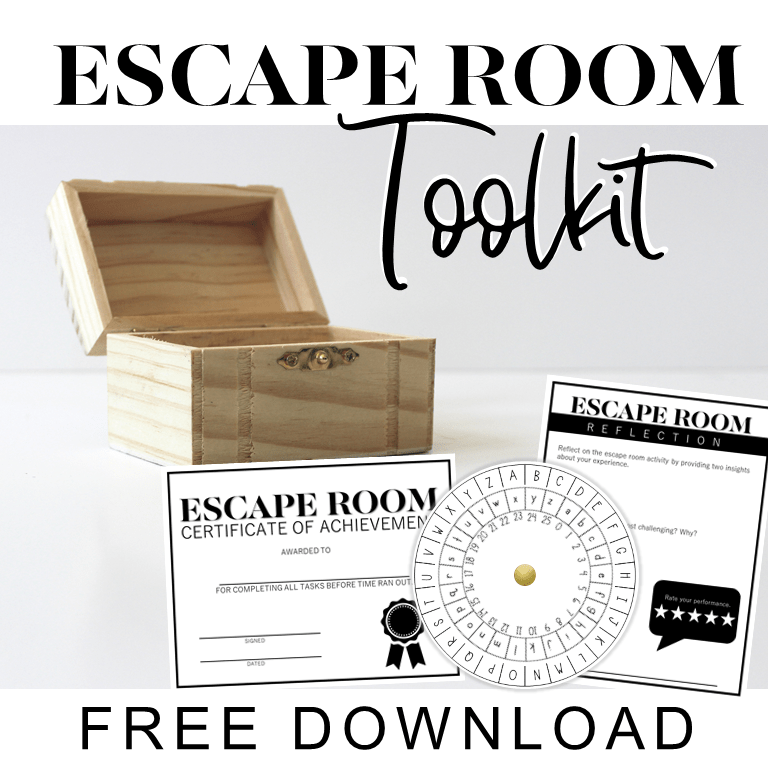 Download my free escape room toolkit that has everything you need to get started creating your own educational escape room! Educational escape rooms are an amazing classroom tool to encourage critical thinking and team building! This toolkit will is perfect for generating ideas for themes, puzzles, and room transformations for high school students in any content! #englishteacher #escaperoom #breakout