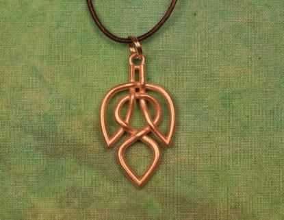 Leaf Celtic Necklace - Brass