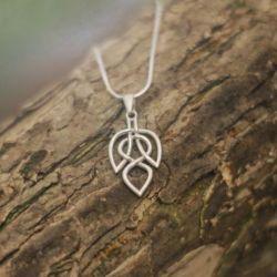 Celtic Knot Leaf Necklace