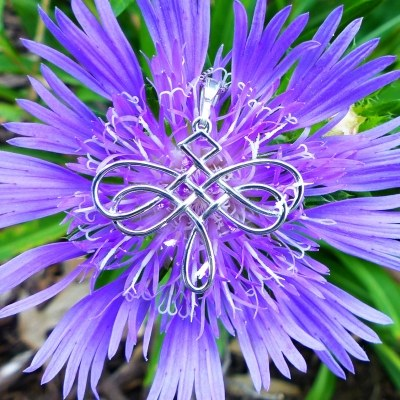 Celtic Knot Dragonfly Necklace