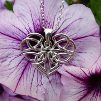 Heart Celtic Knot Necklace - Silver